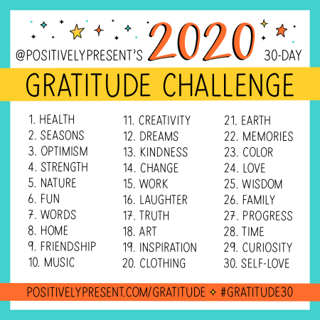 The 10th Annual Gratitude Challenge! - positively present